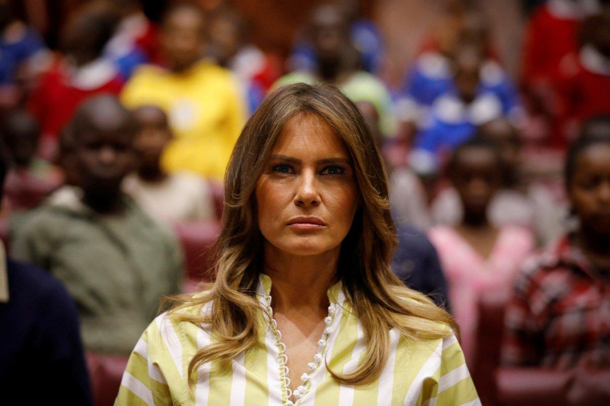 Americká první dáma Melania Trumpová v Keni