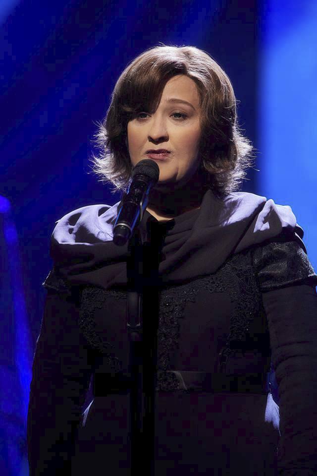 Tereza Mašková jako Susan Boyle v Tvoje tvář má známý hlas