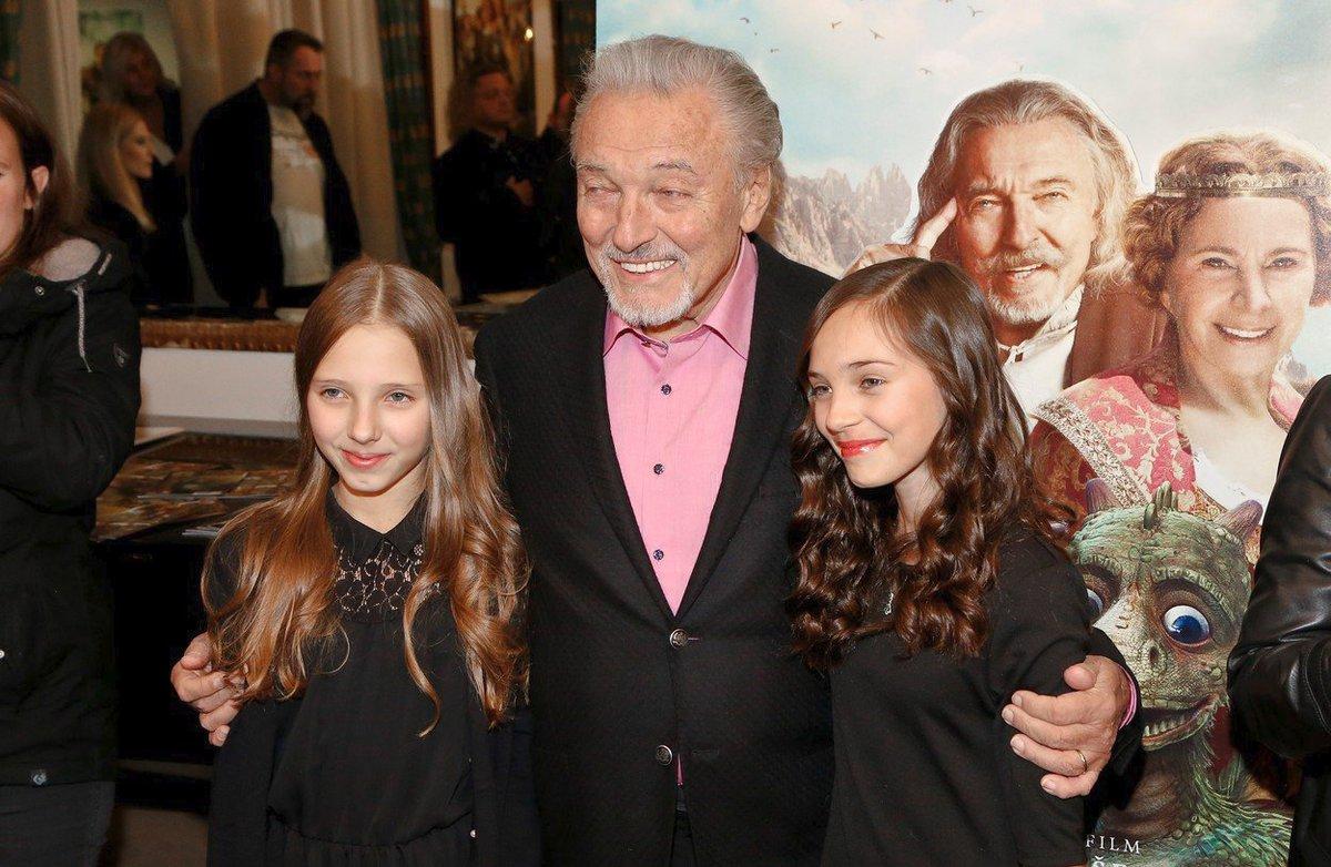 Karel Gott s dcerami Nelly a Charlottou