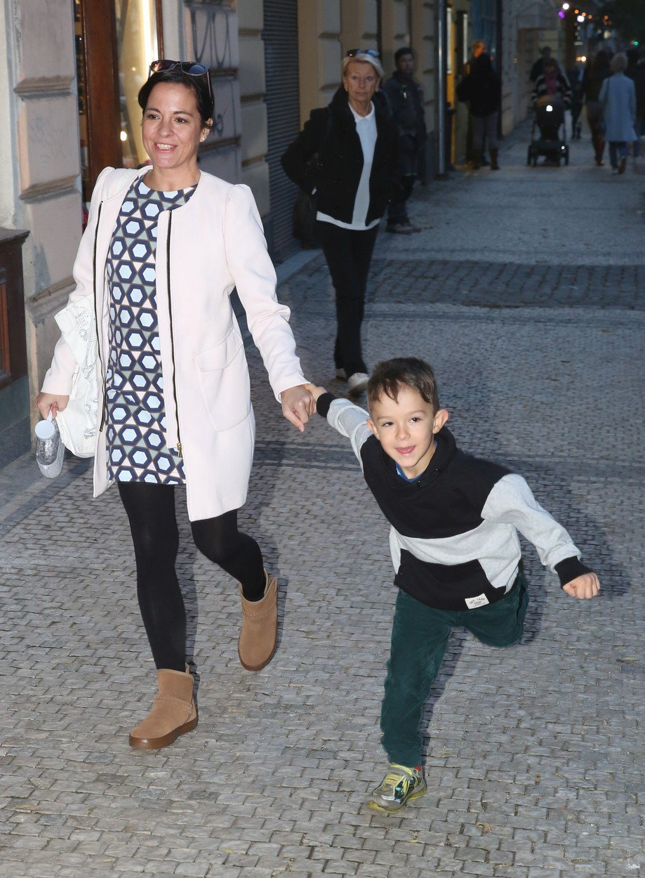 Kristýna Janáčková a syn Luis Frederik
