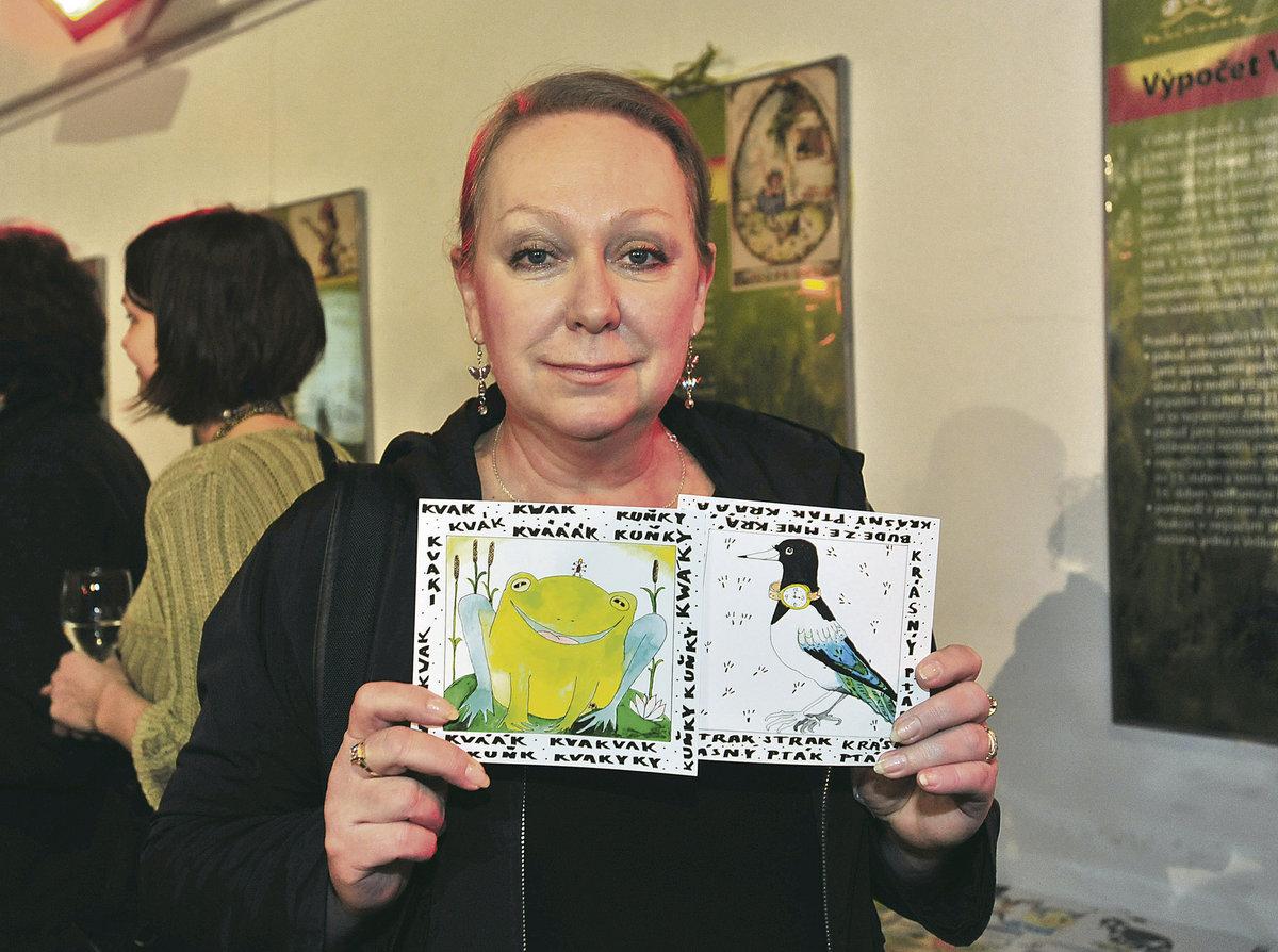Textařka Gábina Osvaldová se svojí Strakou a Žábou