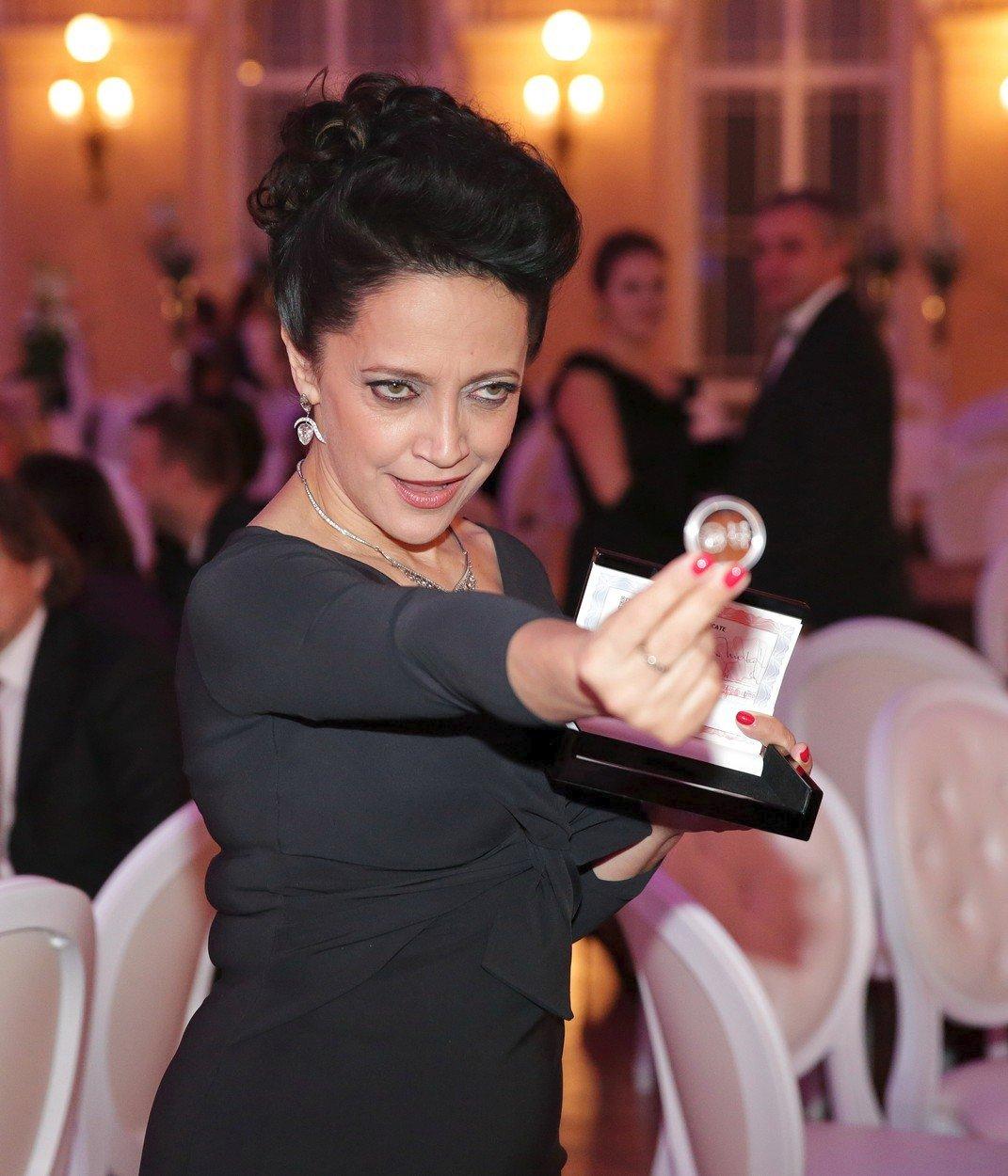 Lucie Bílá získala cenu Řád Vavřínů v roce 2017.