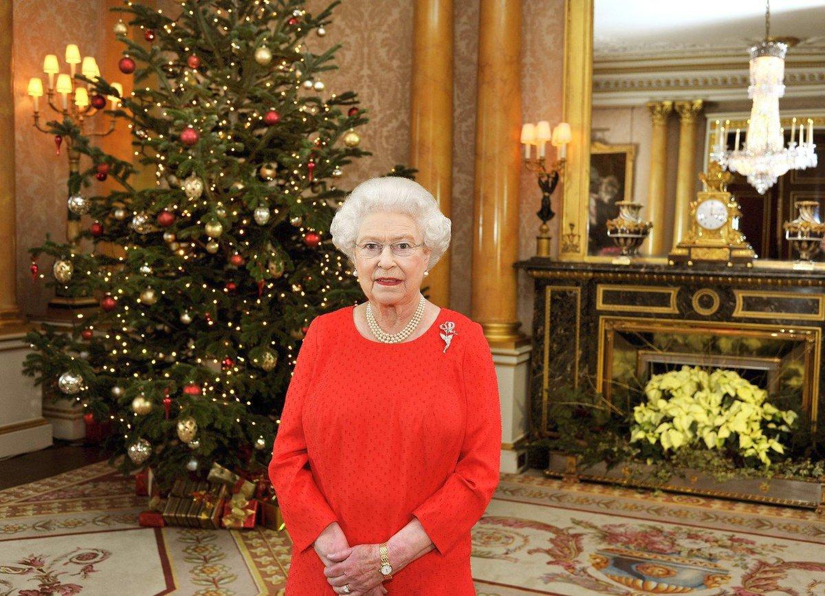 Královna Alžběta na Vánoce