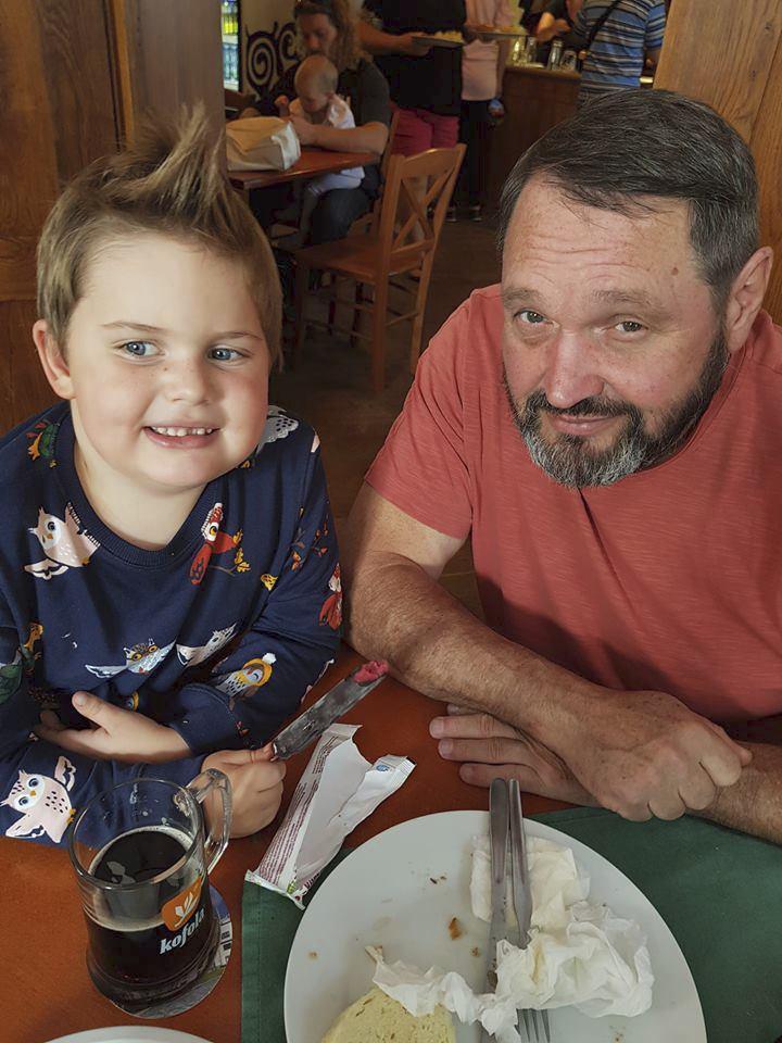 Josef Kokta se synem Quentinem