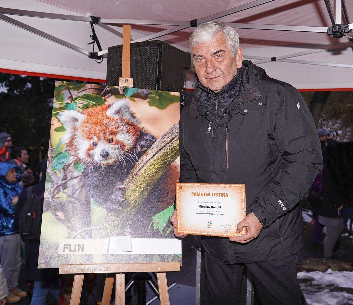 Miroslav Donutil křtil pandu červenou