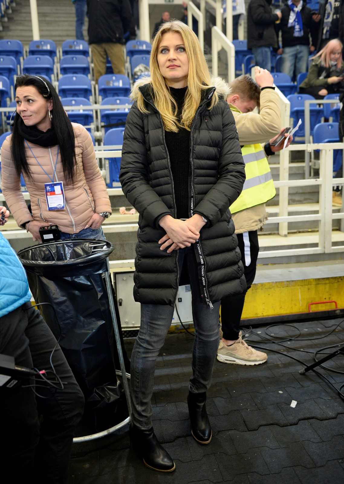 Tenistka Lucie Šafářová se ve čtvrtek přišla podívat na extraligové utkání mezi Kometou a Spartou