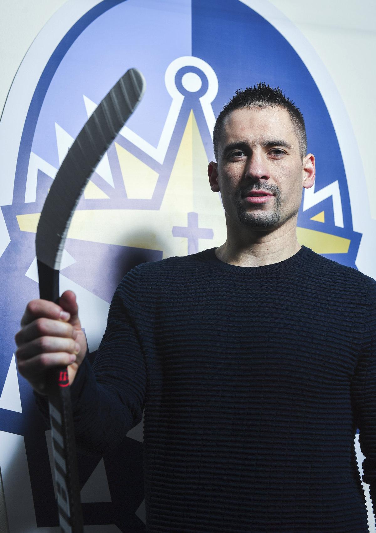 Český hokejový útočník Tomáš Plekanec