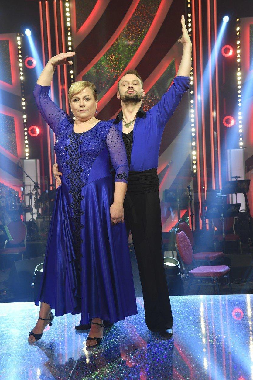 Pavla Tomicová s Markem Dědíkem na finále StarDance