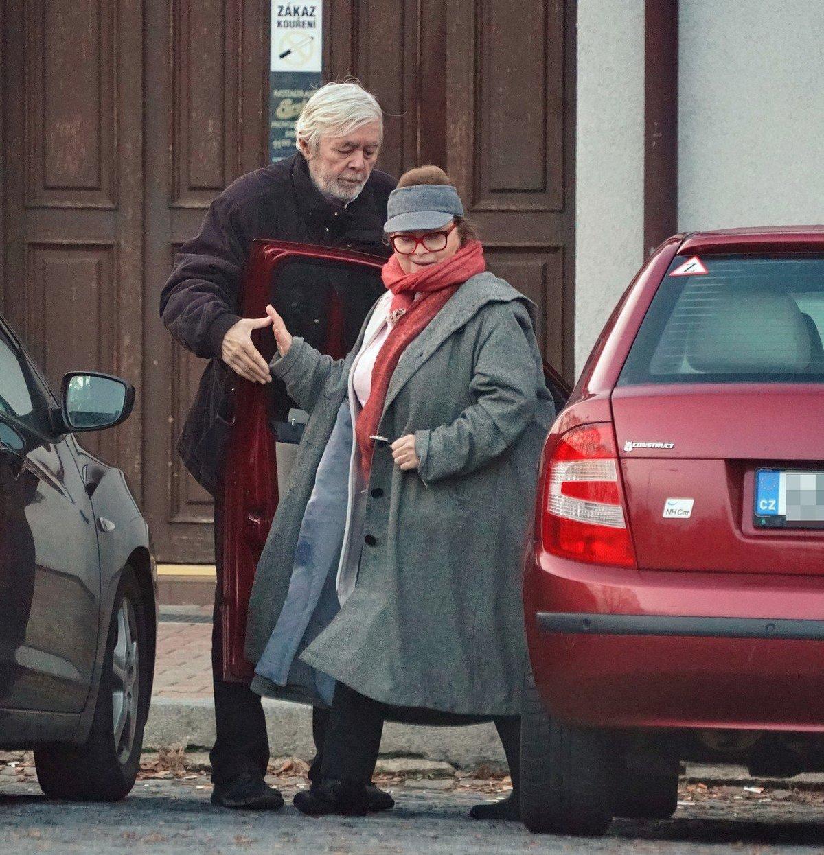 Josef Abrhám a Libuše Šafránková v prosinci 2018