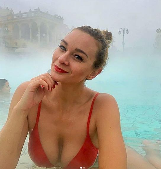 Barbora Mottlová navštívila maďarské termální lázně