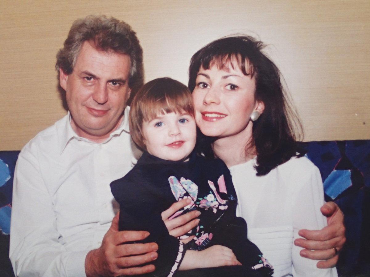 Miloš Zeman, Ivana Zemanová a jejich dcera Kateřina