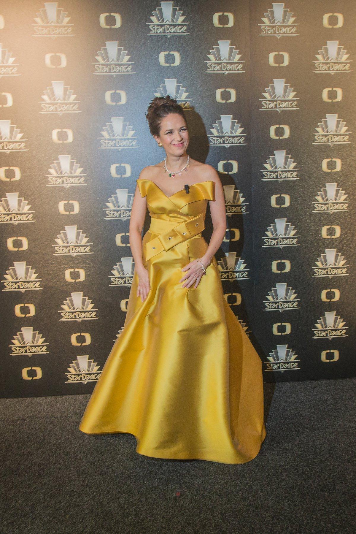 Tereza Kostková v úchvatných žlutých šatech