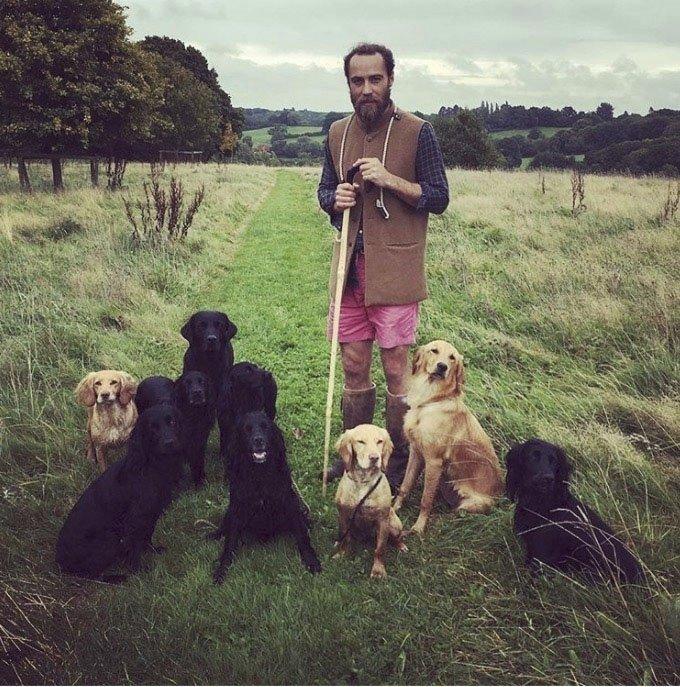 James Middleton a jeho psi