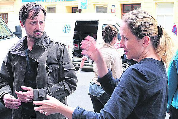 režisérkou Olgou Dabrowskou při natáčení Ceny za štěstí.