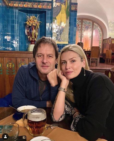 Daniela Peštová se svým partnerem Paľo Haberem.