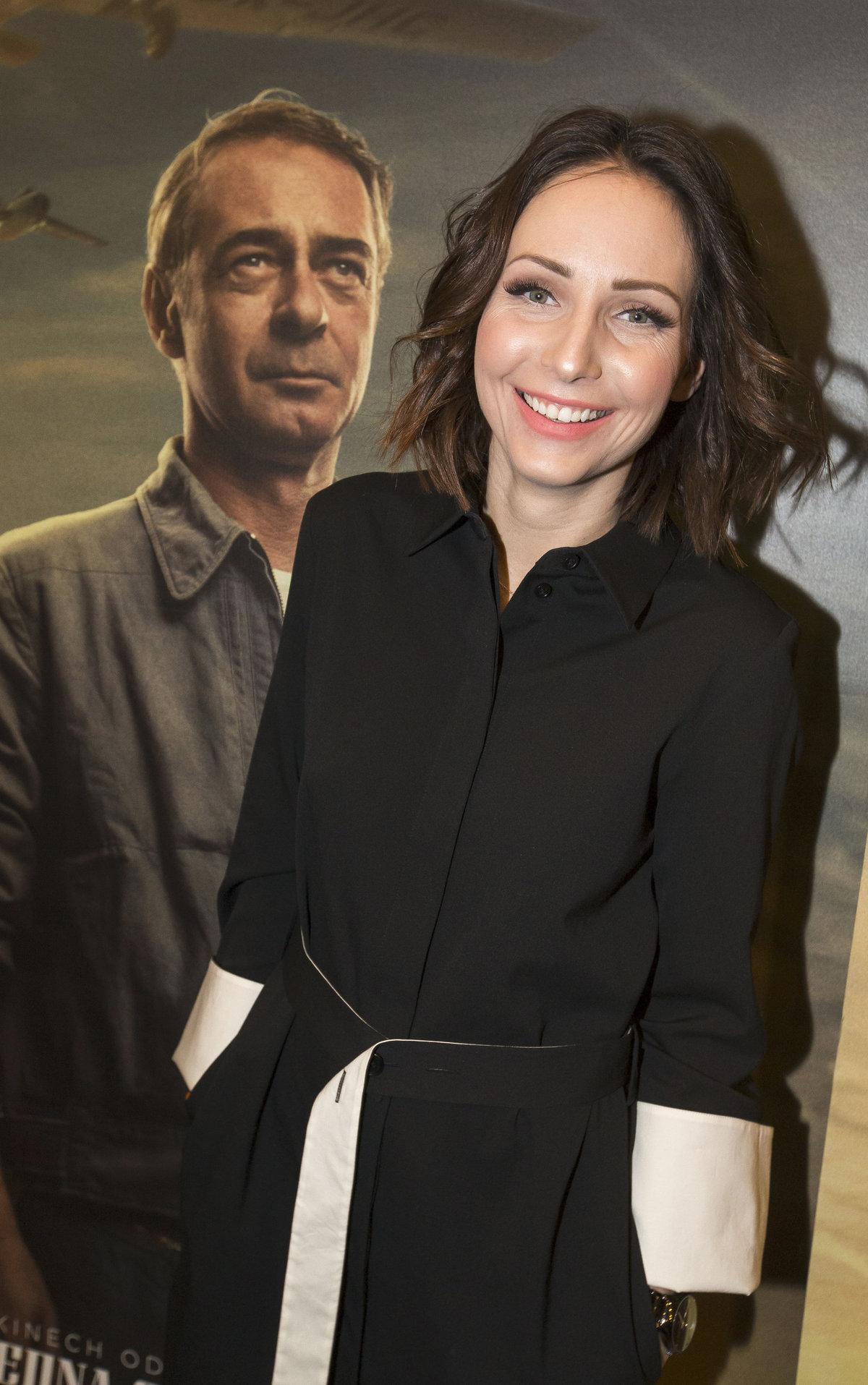 Veronika Arichteva na premiéře filmu Narušitel.