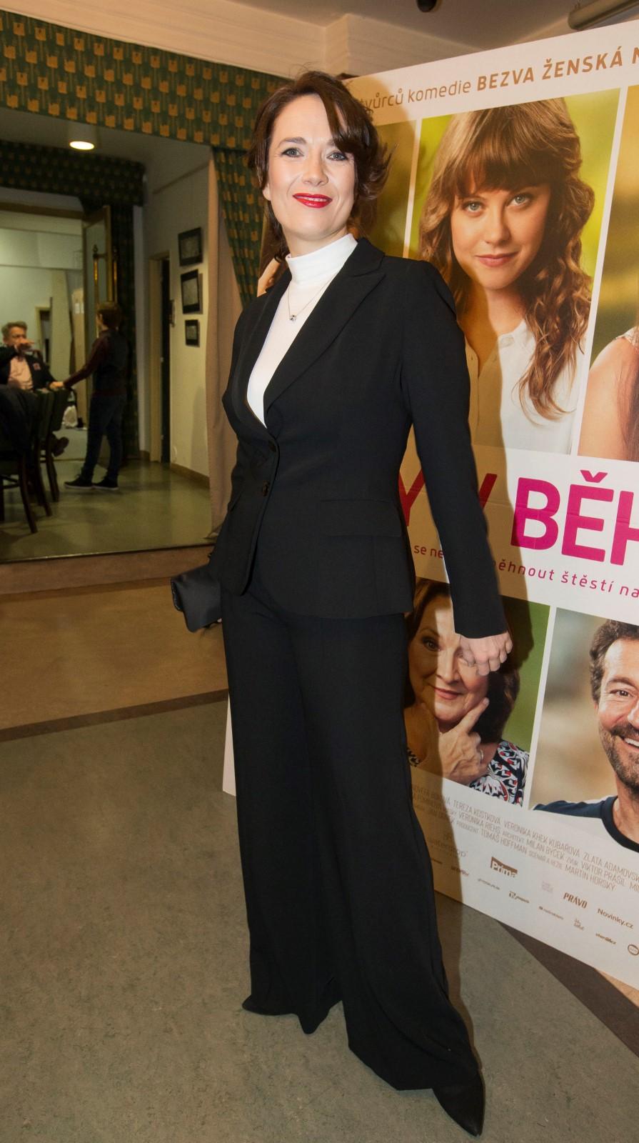 Tereza Kostková na premiéře filmu Ženy v běhu.