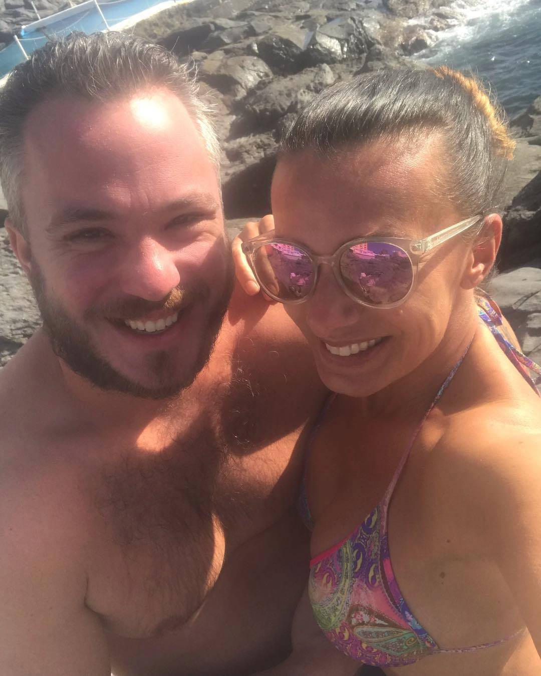Alice Bendová s partnerem na Tenerife