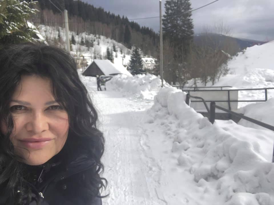 Ilona Csáková na horách
