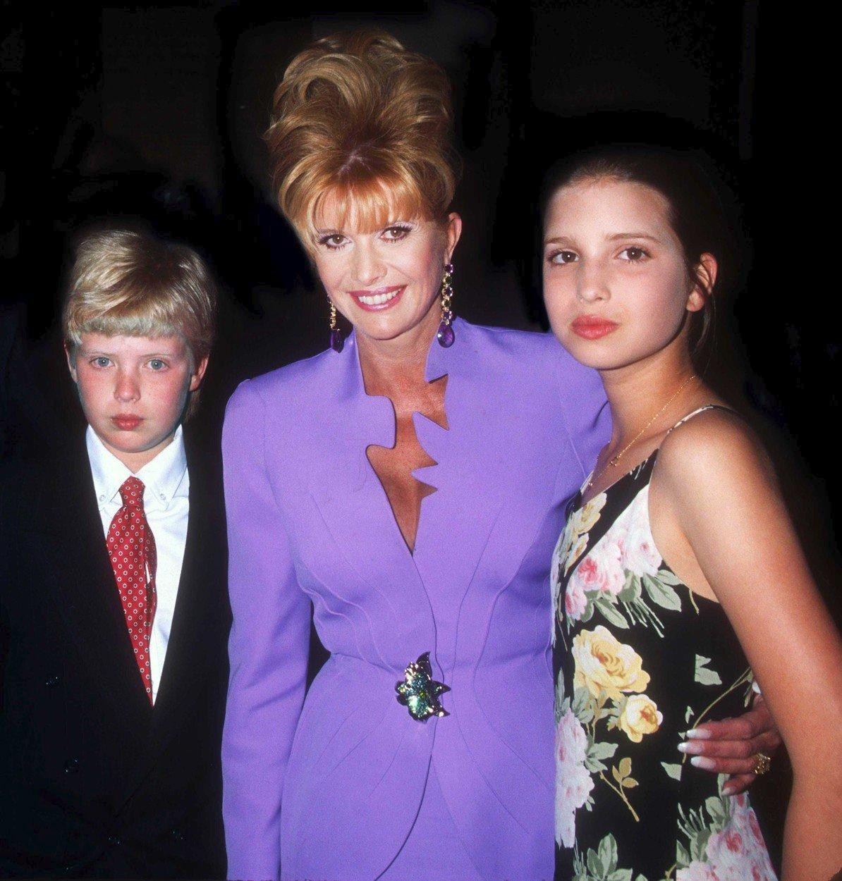 S Donaldem juniorem a Ivankou.