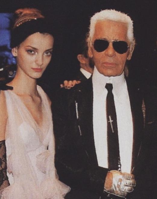 Denisa Dvořáková s Karlem Lagerfeldem