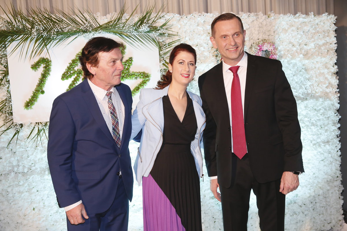 Na oslavu majitele TV Barrandov dorazil i Pavel Trávníček