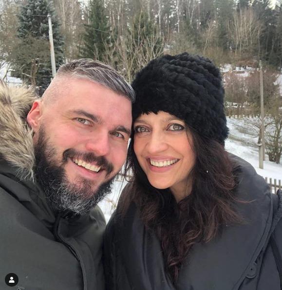 Lucie Bílá se svým snoubencem Radkem Filipim.