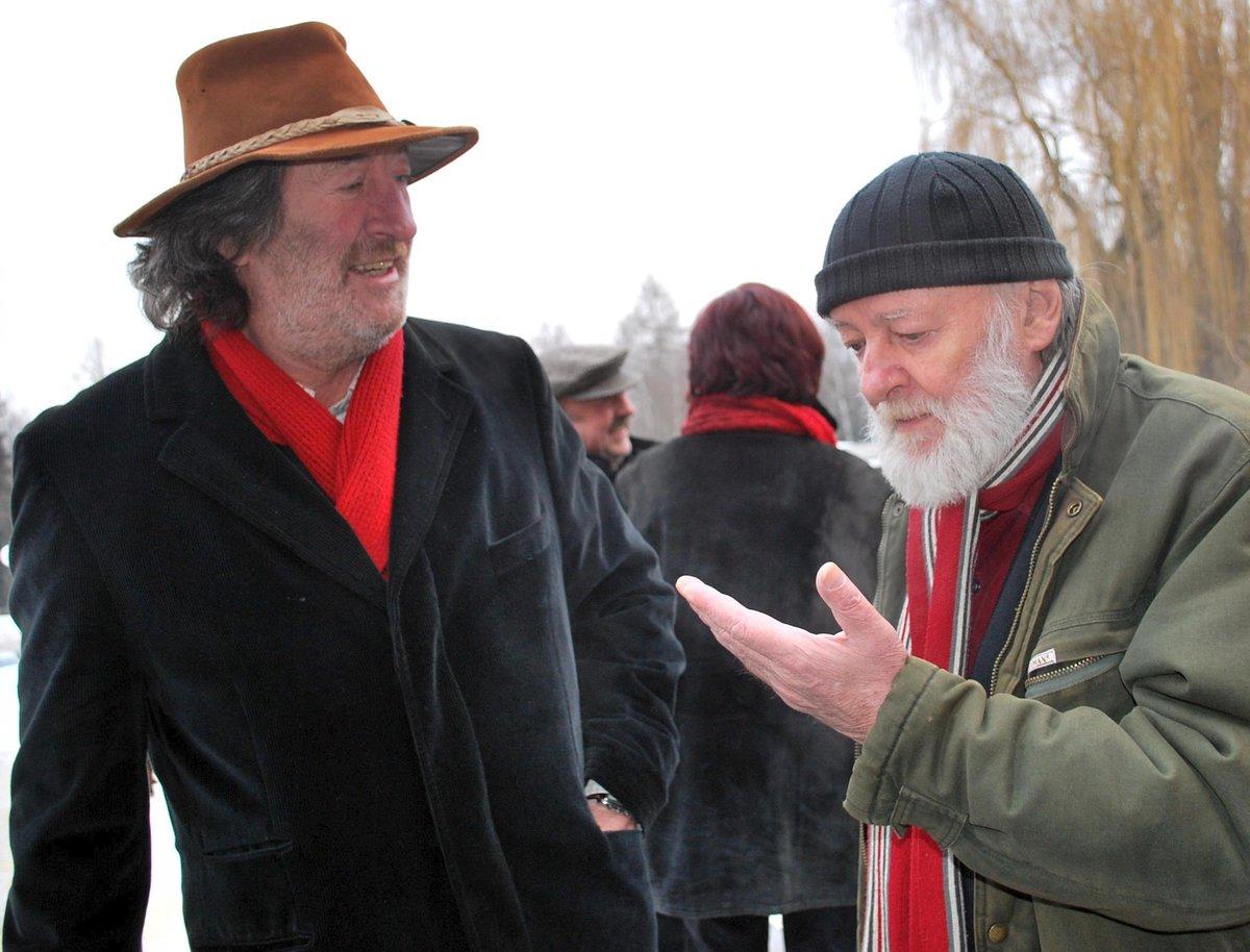 Jiří Pecha s Bolkem Polívkou