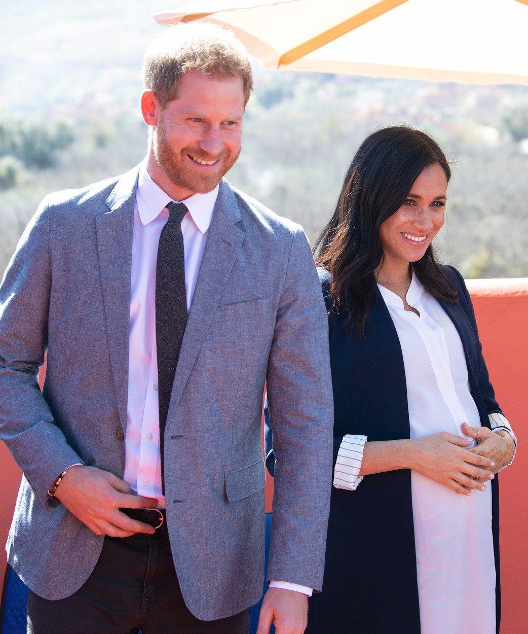 Princ Harry a vévodkyně Meghan při návštěvě Maroka.