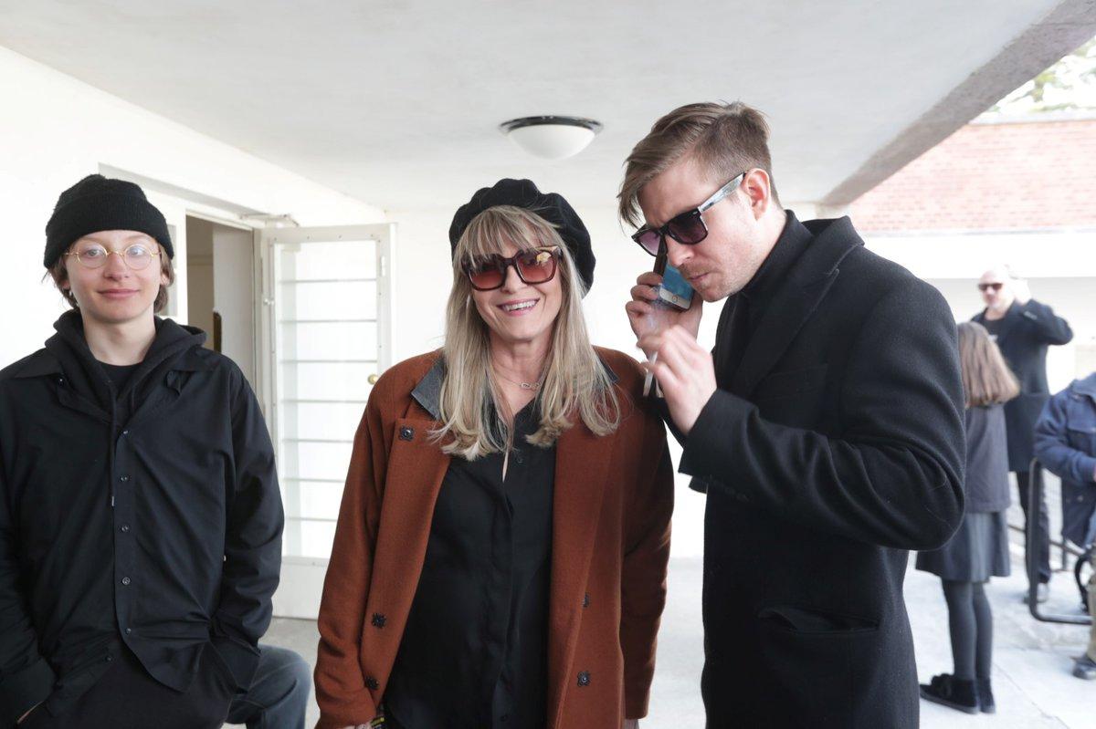 Pohřeb Jiřího Pechy: Chantal Poullain a Vladimír Polívka