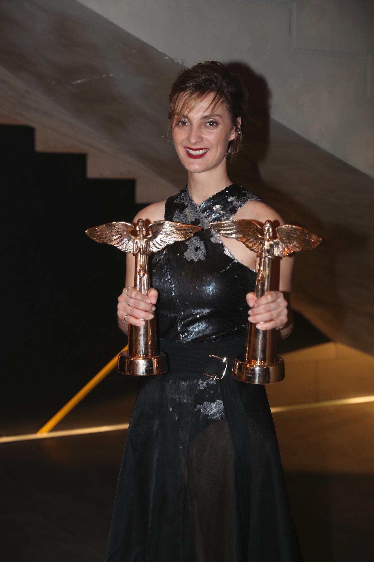 Bára Poláková si odnesla dvě ceny Anděl