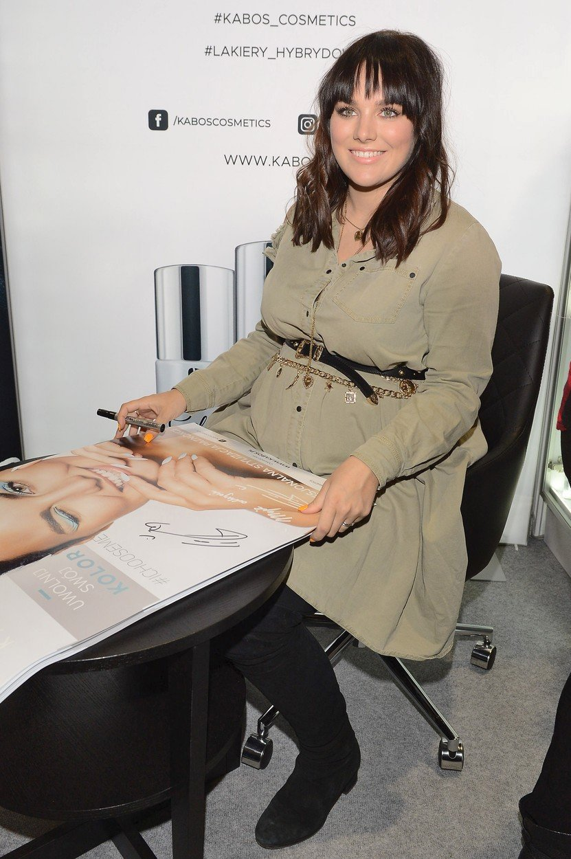 Ewa Farna před porodem.