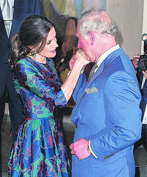 S královnou Leticií.