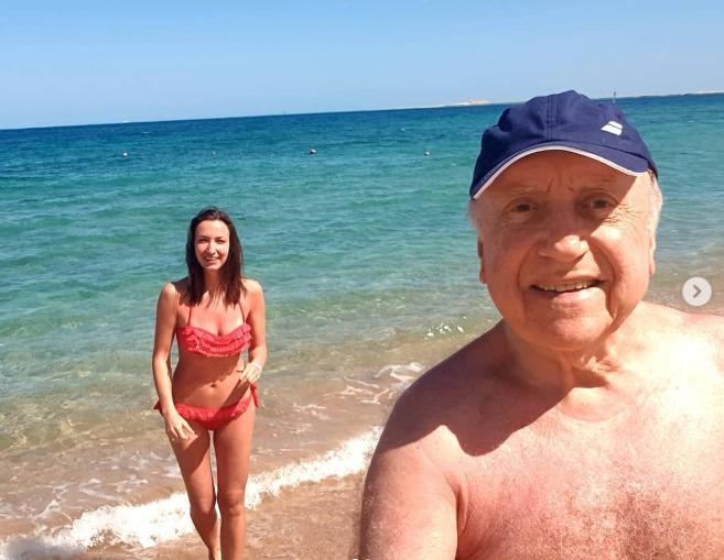 Lucie Gelemová a Felix Slováček v Egyptě
