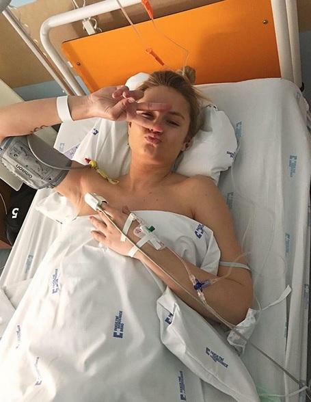 Tereza Fajksová v porodnici
