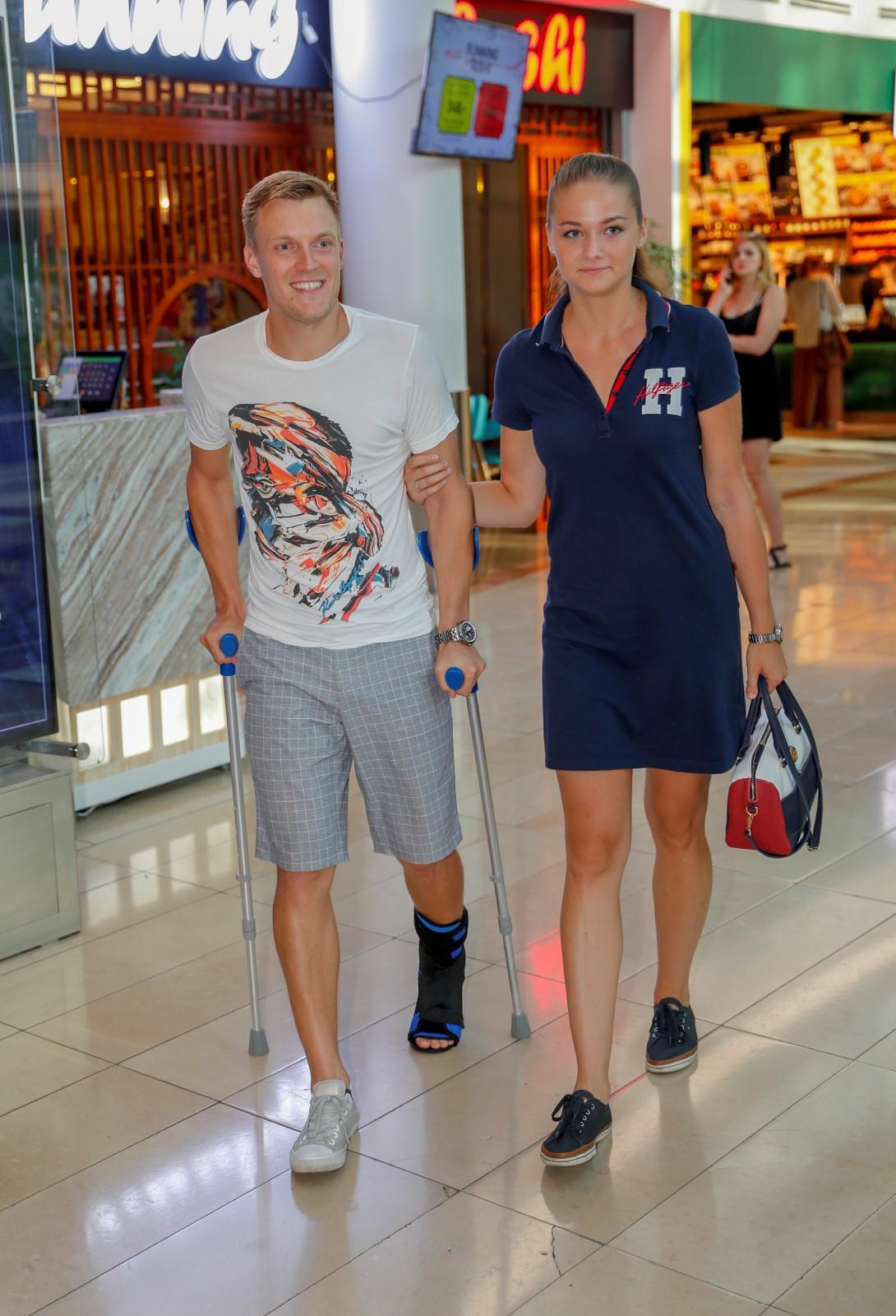 Krasobruslař Tomáš Verner s bývalou přítelkyní.