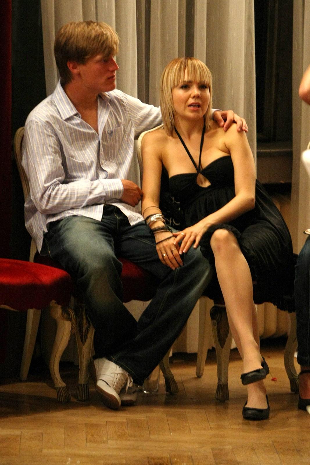 Krasobruslař Tomáš Verner s Lucií Vondráčkovou.