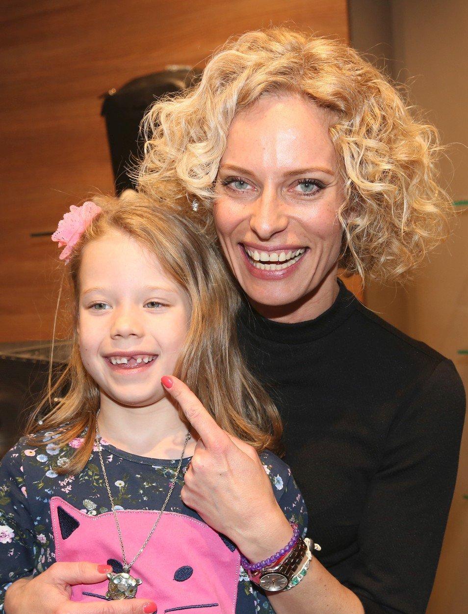 Kristina Kloubková s dcerou
