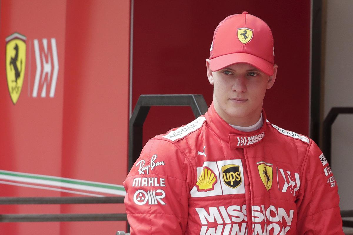 Mick Schumacher během testů v Bahrajnu