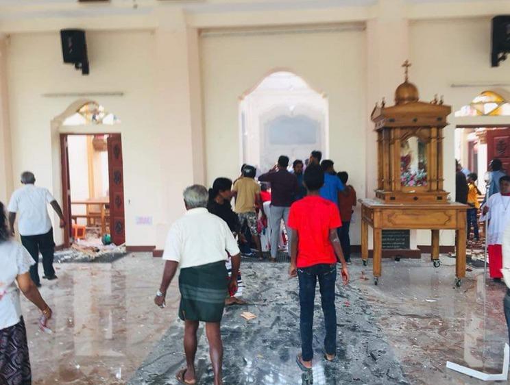 Několika kostely na Srí Lance otřásly exploze