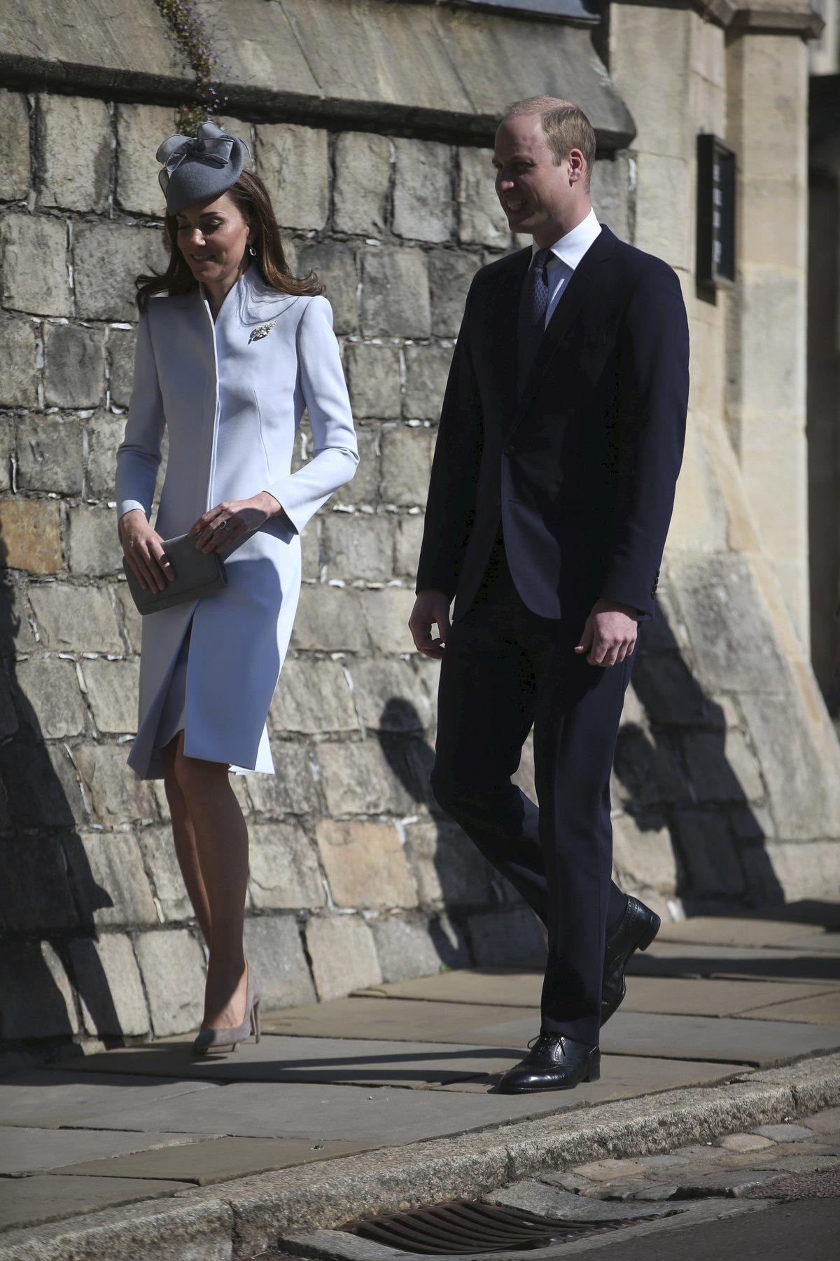 Oslavy Velikonoc královské rodiny: Kate a William
