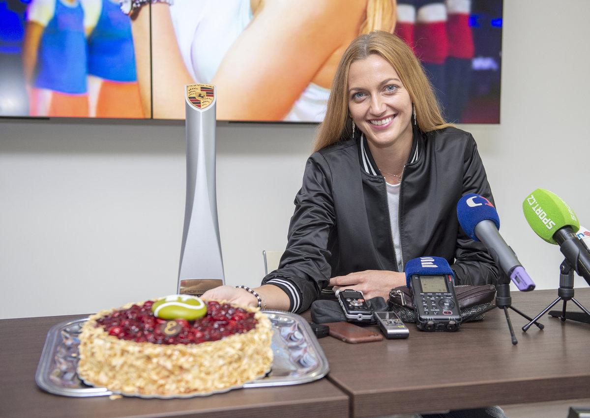 Petra Kvitová na setkání s novináři