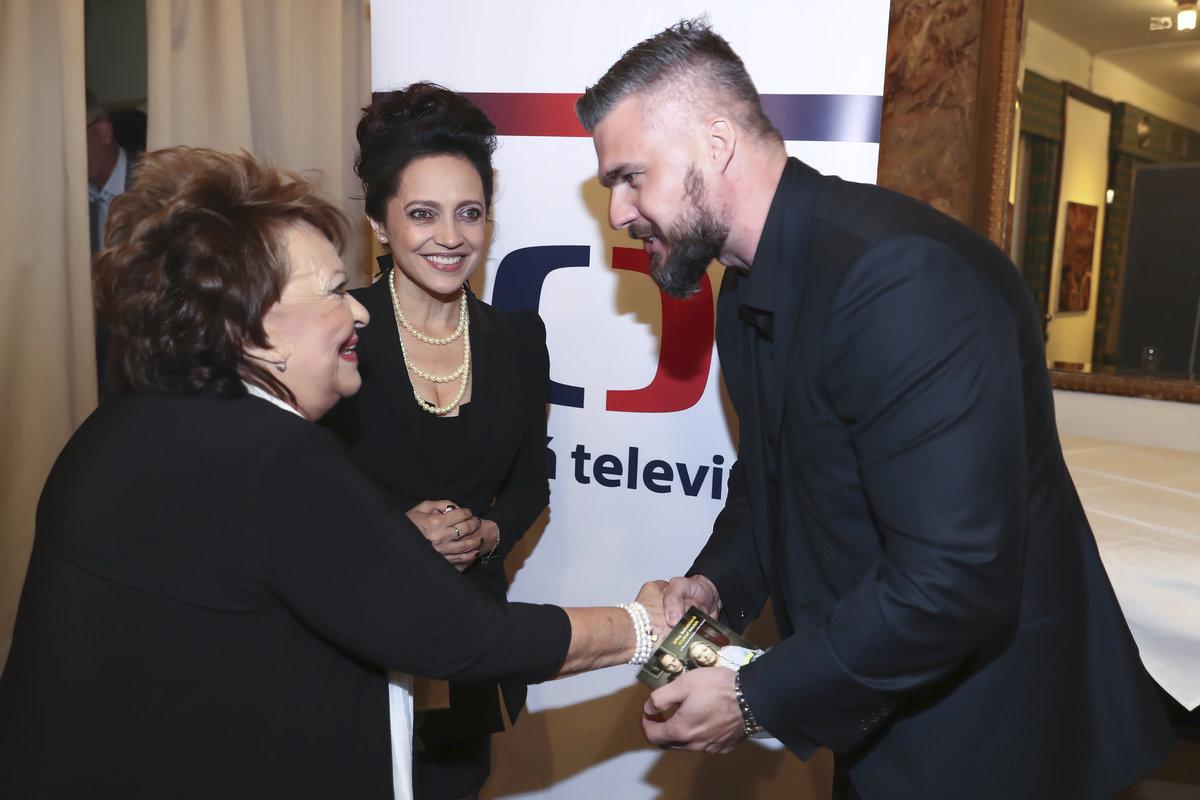 Lucie Bílá s Radkem Filipim a Jiřinou Bohdalovou