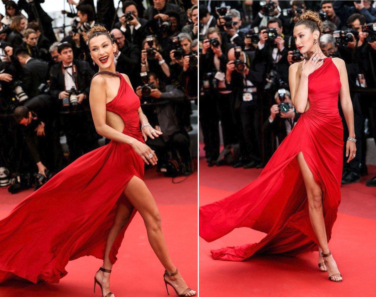 Bella Hadid v Cannes