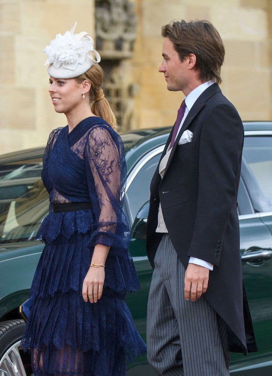 Princezna Beatrice na královské svatbě Lady Gabrielly Windsorové.