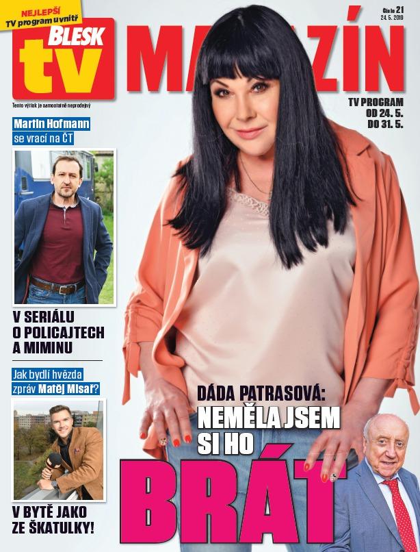 Dáda Patrasová v TV Magazínu