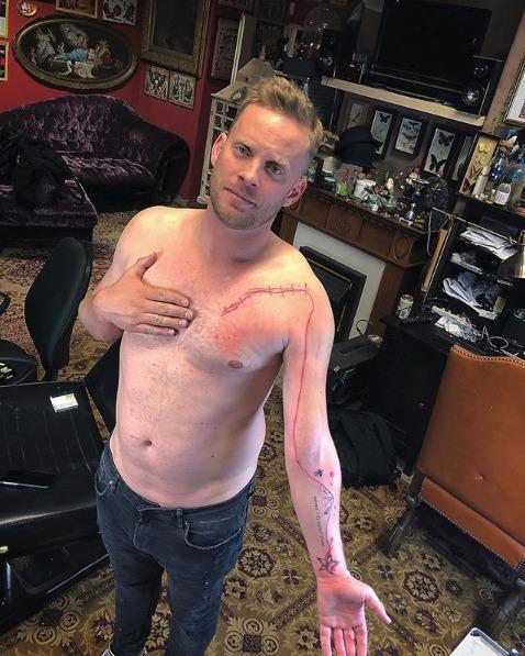 Nejnovější tetování Jakuba Prachaře s názvem 'Cesta'
