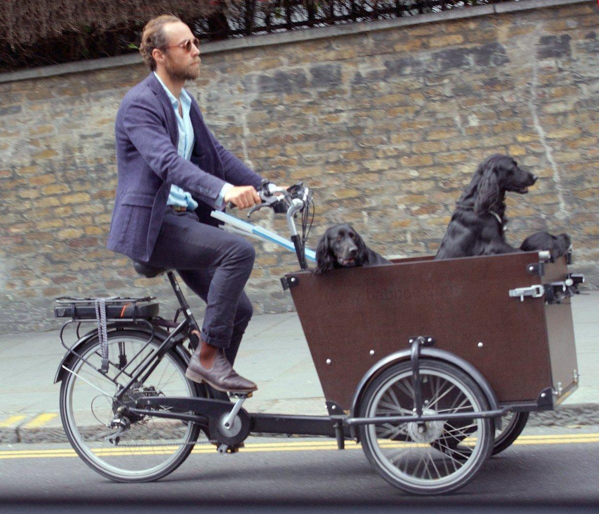 James Middleton jezdí po Londýně se svými pejsky