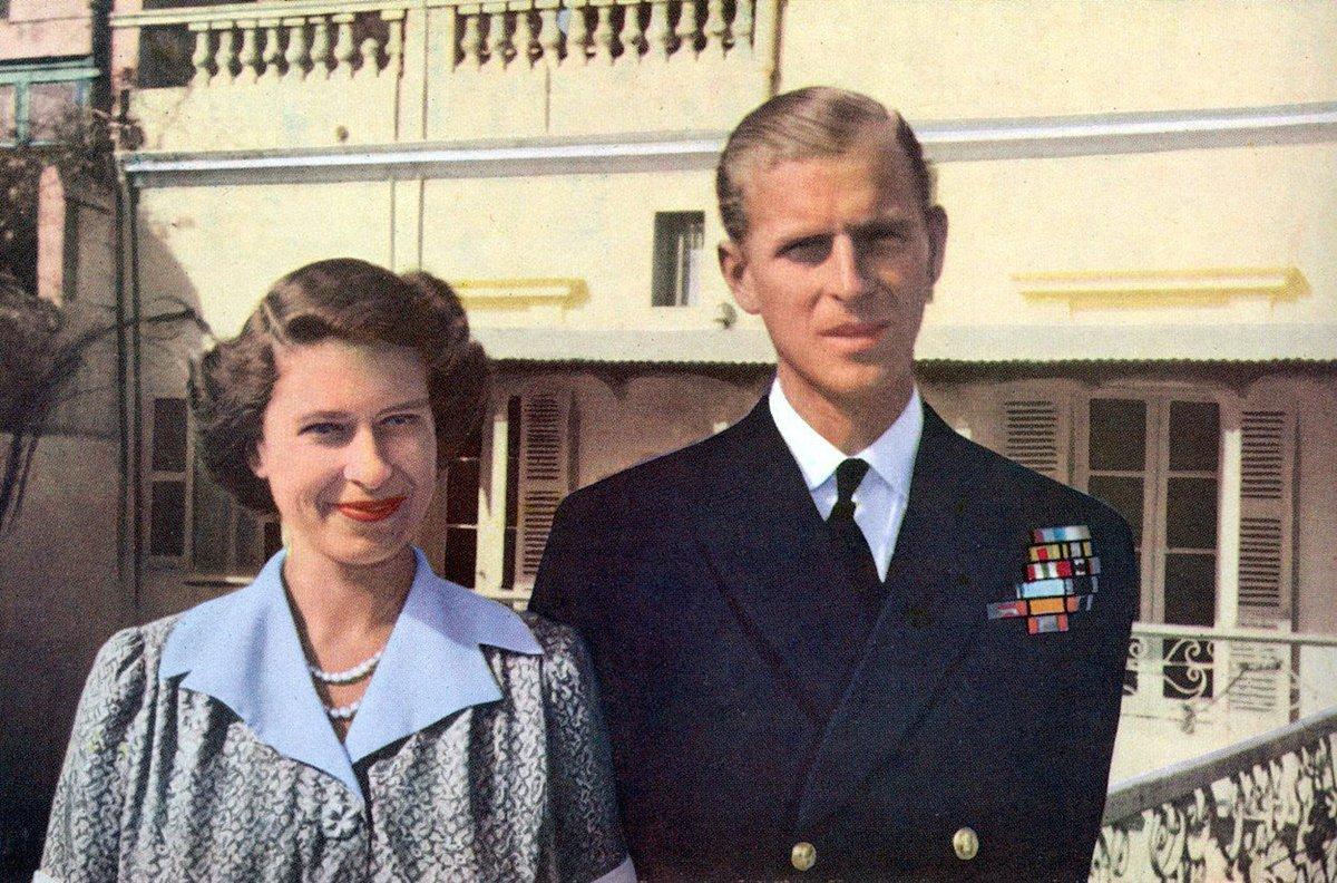 Královna Alžběta a princ Philip v době, kdy žili na Maltě