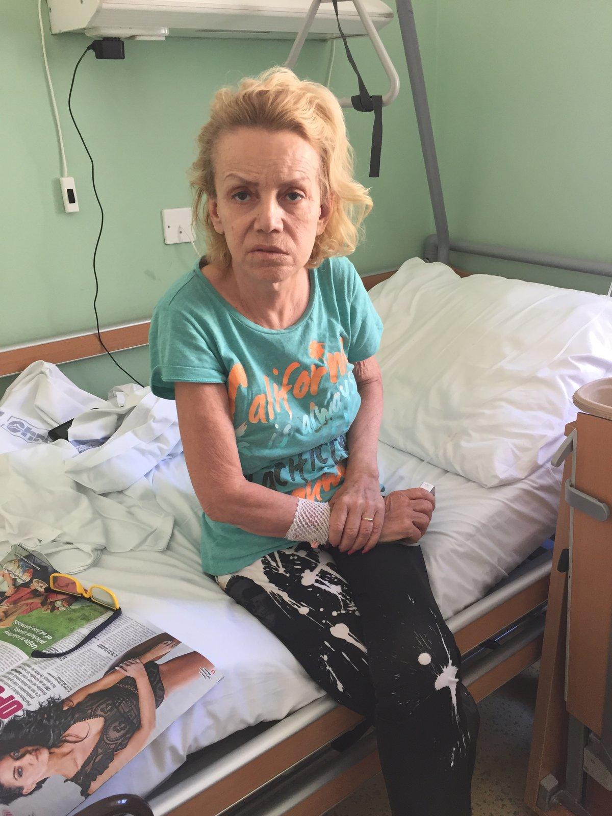 Hana Krampolová v nemocnici Na Františku